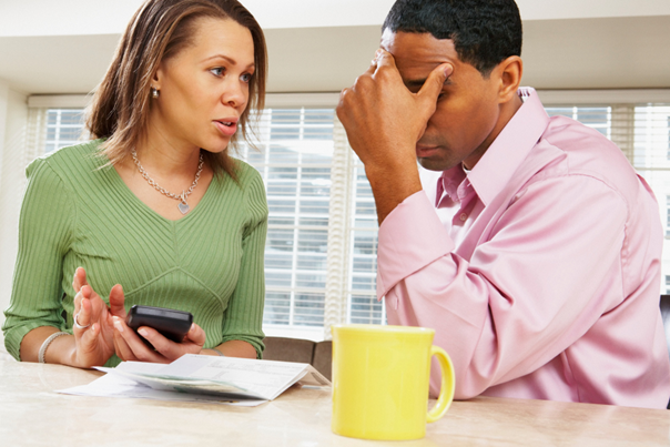 couple depressed over finances